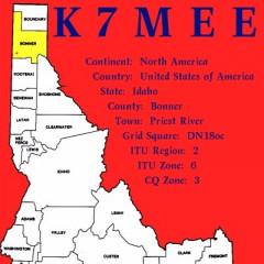 K7MEE QSL Card