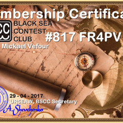 FR4PV Membership Certificate