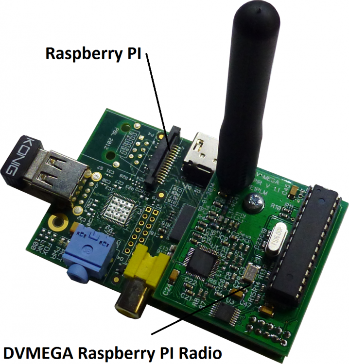 Dv-Mega Raspberry D-star radio